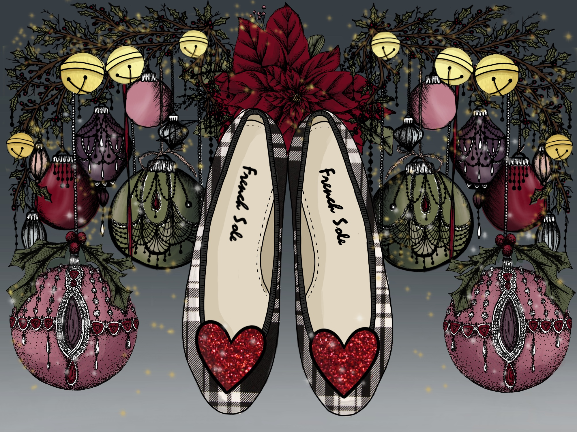 The dazzling Love Heart flats!
