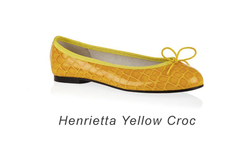 French Sole Henrietta Yellow Croc