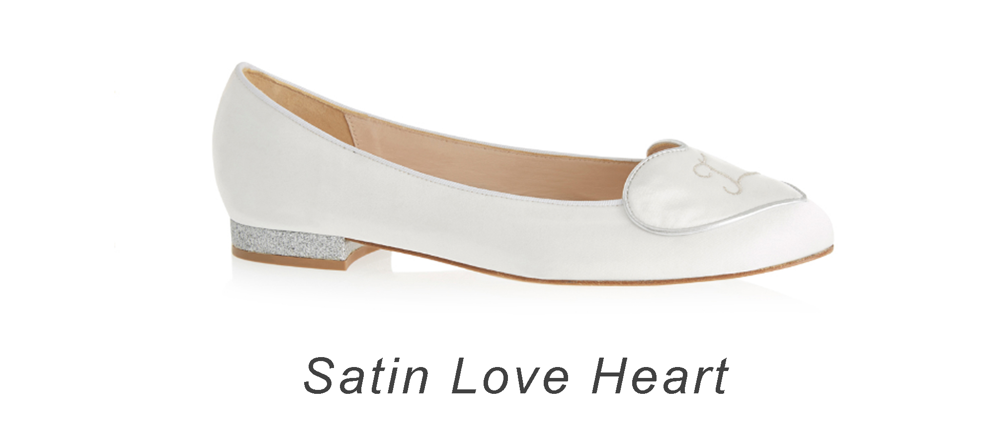 French Sole Satin Love Heart
