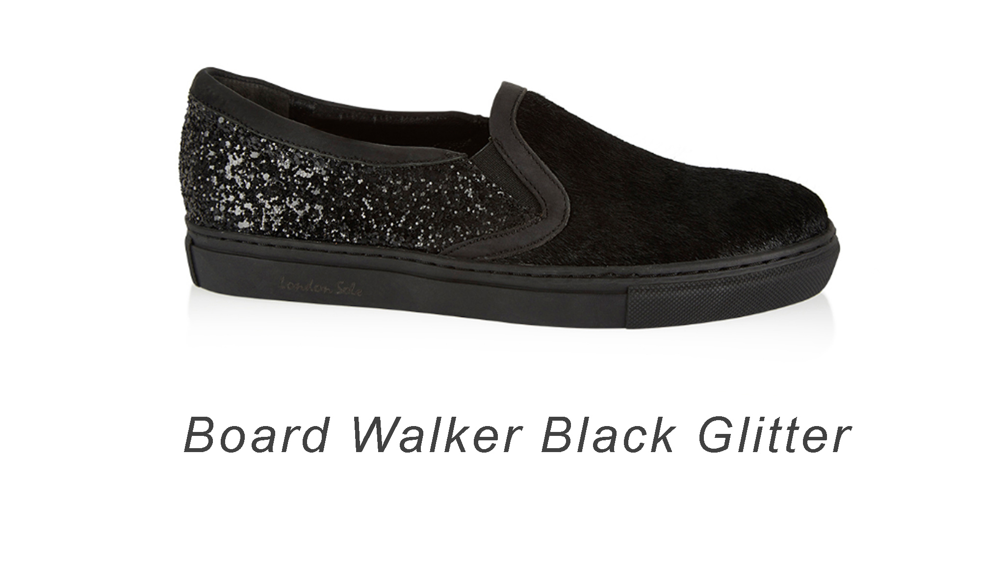 Board Walker Black Glitter