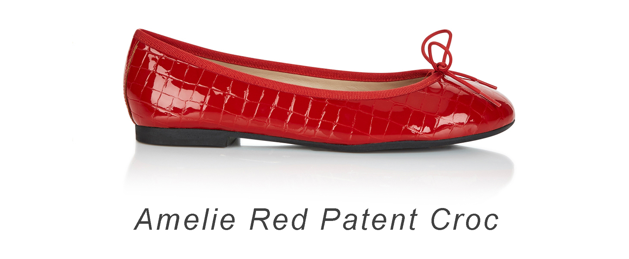 French Sole Red Amelie croc