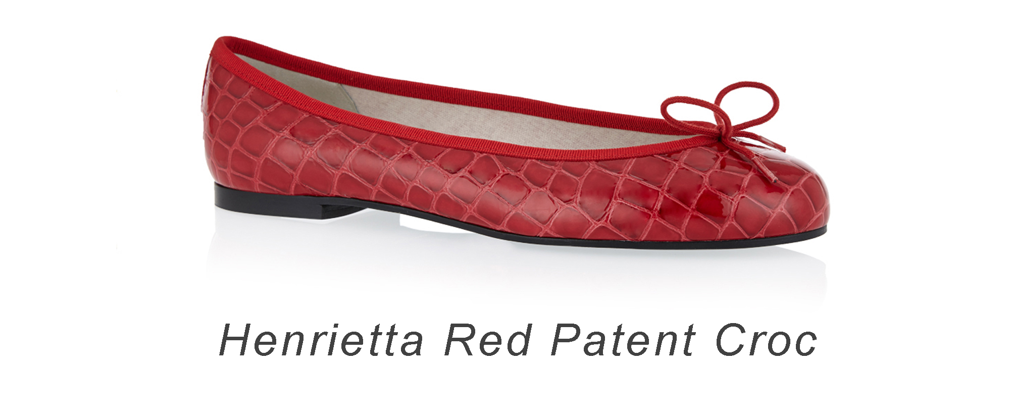 French Sole Henrietta red patent croc