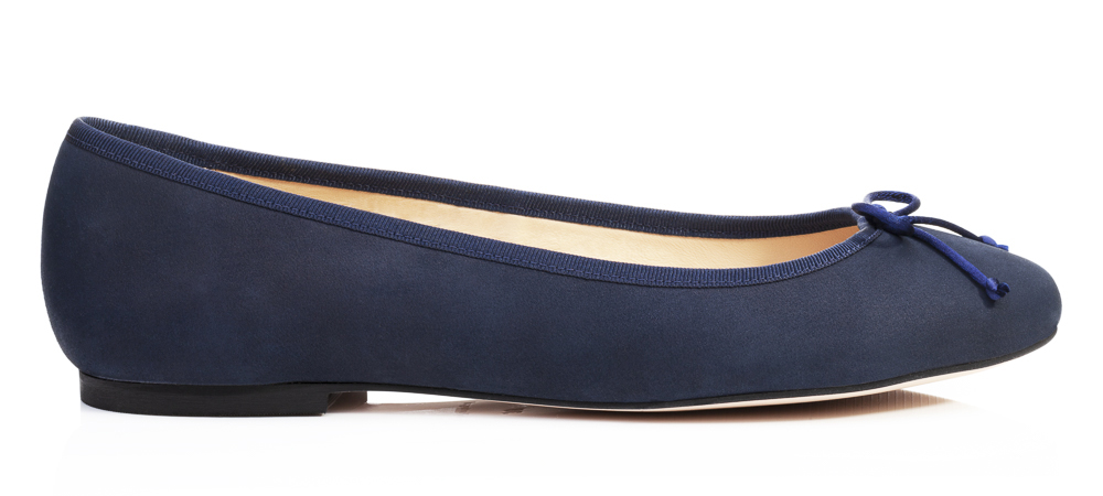 French Sole Lola navy blue nubuck